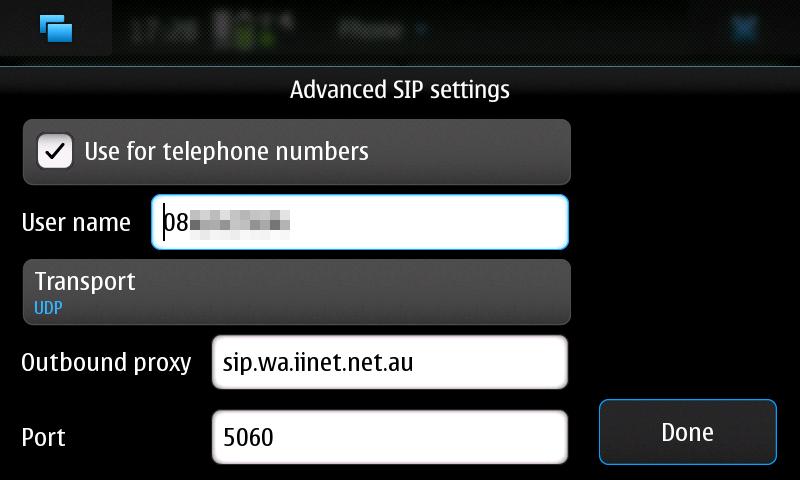 iiNet VOIP iiTalk N900 Settings #2