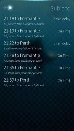 Perth Trains - Live Departures for Sailfish: Subiaco
